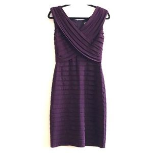 Adrianna Papell Sexy Plum formal party dress